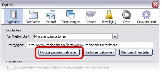 Firefox screenshot opties venster