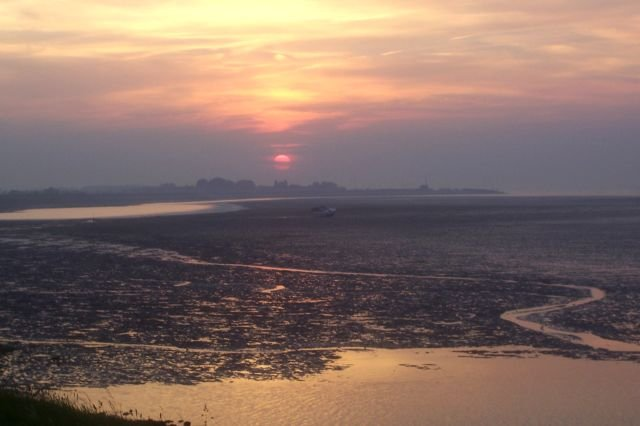 Zonsondergang @ Damse strand Yerseke