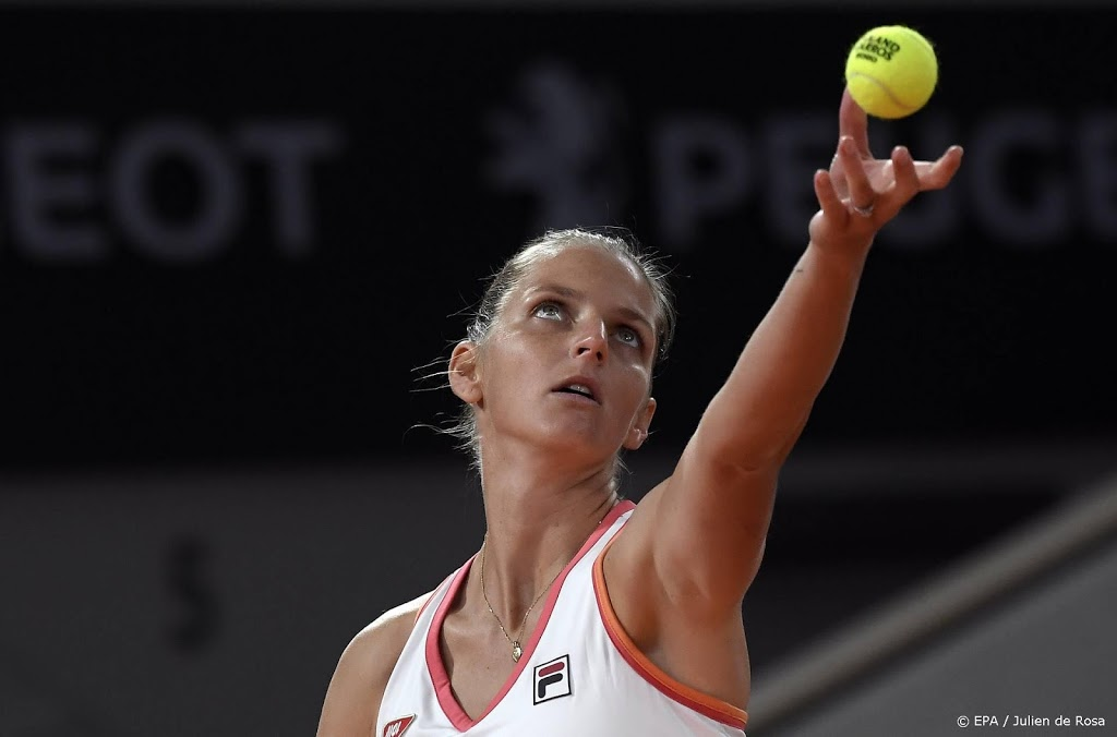 Tennisster Pliskova verrast door qualifier in Ostrava
